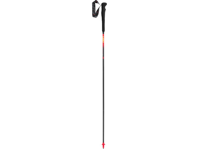 LEKI Micro RCM Superlight Vandrestave, neon red/naturcarbon/neon yellow